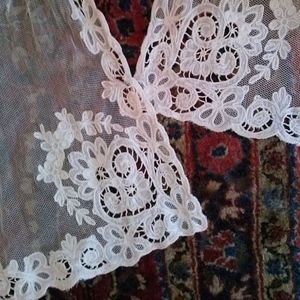 1910s Tambour Lace Curtain 5 Panels